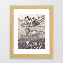 Dig Framed Art Print