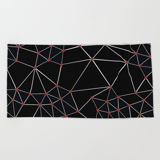 Seg with Red Spots Beach Towel