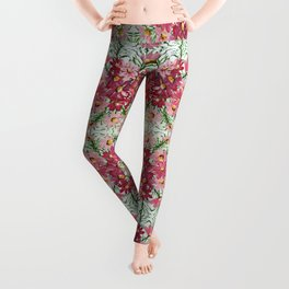 PINK PETALS & LEAVES Leggings