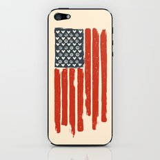 Red and Blue and White iPhone & iPod Skin