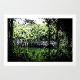 Travel Photography : Los Tres Ojos - Dominican Republic Cave Art Print