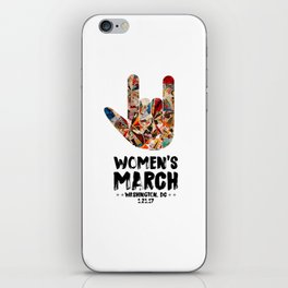 Iconic 'I Love You' in American Sign Language for Women's March iPhone Skin