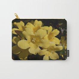 Yellow Carolina Jasmine Blossom Close Up Carry-All Pouch