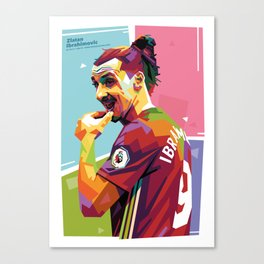 Zlatan Ibrahimovic alt-color WPAP Canvas Print