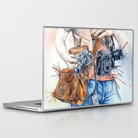 photographer Laptop & iPad Skins featuring The Photographer by Veronika Neto