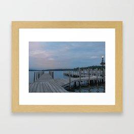 Weirs Beach Docks Framed Art Print
