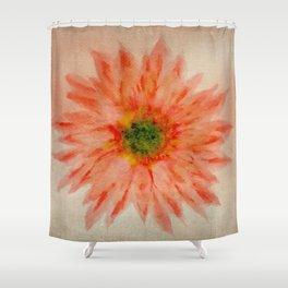 salmon flower Shower Curtain