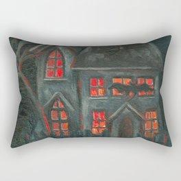 Spooky House Rectangular Pillow
