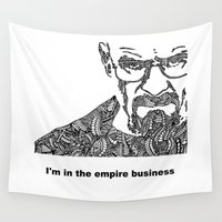 walter white Wall Tapestries featuring Walter White by christoph_loves_drawing