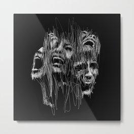Sinking in the Dark Metal Print