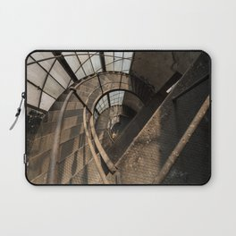 The world needs more spiral staircases. Abandoned power station. Laptop Sleeve