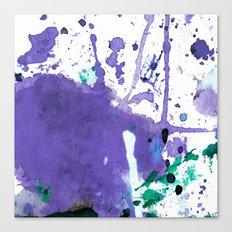 purple splash Canvas Print