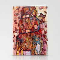 elephants Stationery Cards featuring Elephants by oxana zaika