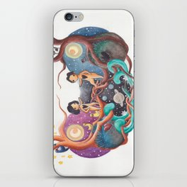 Boy and Girl In A Love World of Their Own iPhone Skin