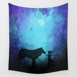 Wolf Whisperer Wall Tapestry