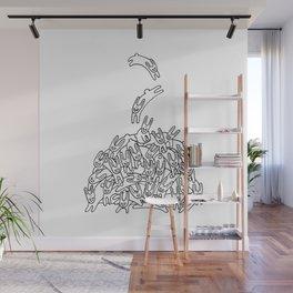 Pile of Rabbits Wall Mural