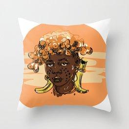 African human Throw Pillow
