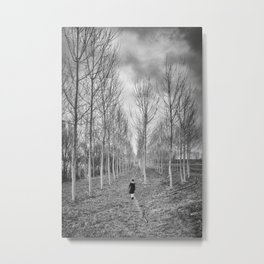 Little Human Artwork - Walk Metal Print