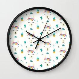 Darling LLamas Wall Clock