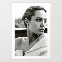angelina jolie Art Prints featuring Angelina Jolie by Sport_Designs