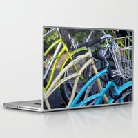 bicycles Laptop & iPad Skins featuring Bicycles by Penelope Clute