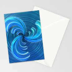 Crystal Blue Glass Bow Stationery Cards