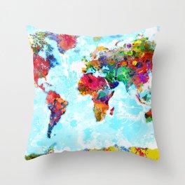 World Map - 2 Throw Pillow