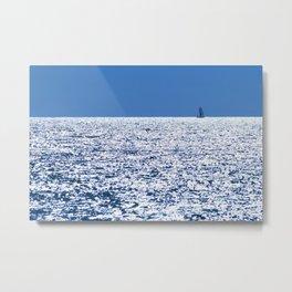 Blue Sailing 2 Metal Print