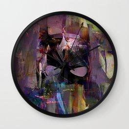 Bat Abstract Man  Wall Clock