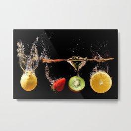 Falling Fruits Metal Print