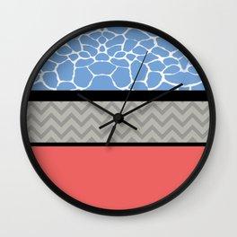 Confused Preppy Prints Wall Clock