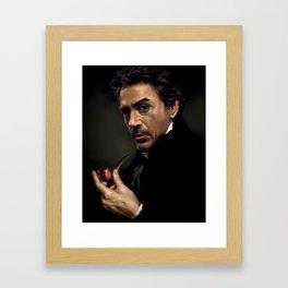 Portrait of Sherlock Holmes Framed Art Print