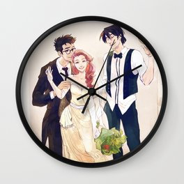James and Lily's wedding Wall Clock