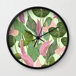 Lush Lily Wall Clock