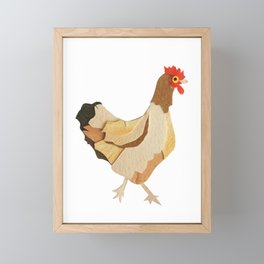 Single Chicken Framed Mini Art Print