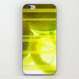 Light & Limes Striped Abstract Design iPhone Skin