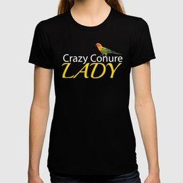 Crazy Conure Lady T-shirt