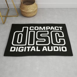 Compact Disk Digital Audio Logo - White Rug
