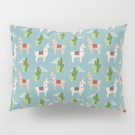 Cute Llamas Illustration Pillow Sham
