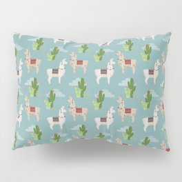 Cute Llamas Illustration Pillow Sham