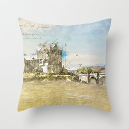 Eilean Donan Castle, Scotland Throw Pillow