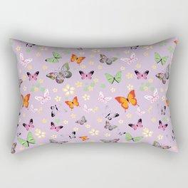 New Watercolour Butterflies XXII (colorful butterflies) Rectangular Pillow