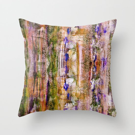 floating / purple Throw Pillow