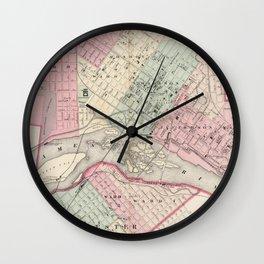 Vintage Map of Richmond VA (1878) Wall Clock