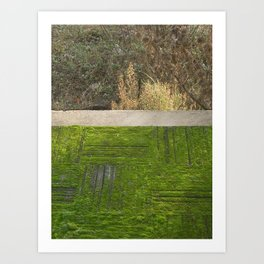 green moss abstract Art Print
