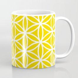 Yellow/White Flower of Life Coffee Mug