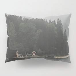 Foggy mornings at the lake II - landscape photography Pillow Sham