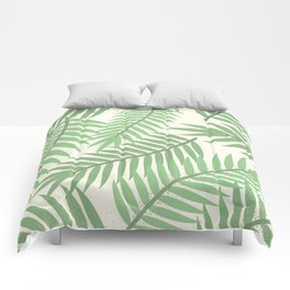 Vintage Florida Palm Fronds 2 Comforters