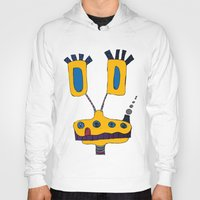 yellow submarine Hoodies featuring yellow submarine giraffe by JBLITTLEMONSTERS