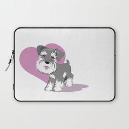 Miniature Schnauzer Puppy Dog Adorable Baby Love Laptop Sleeve